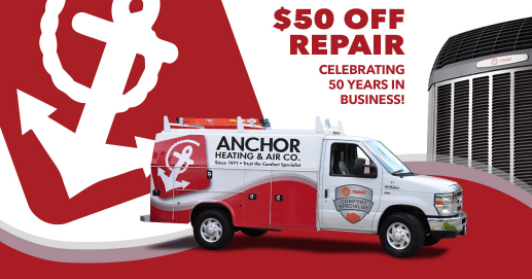 Anchor $50 off anniversary promotion