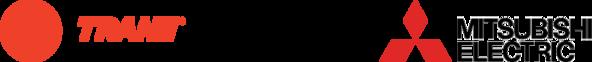 combined trane mitsubishi logo