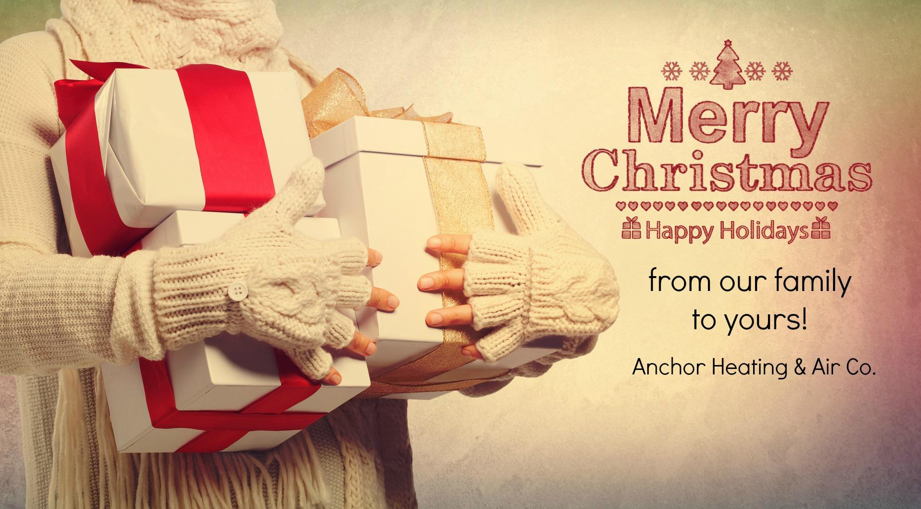 merry christmas anchor holiday