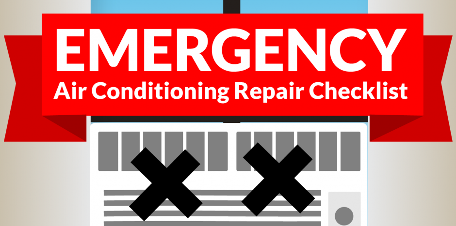 infographic emergency air conditioning repair checklist