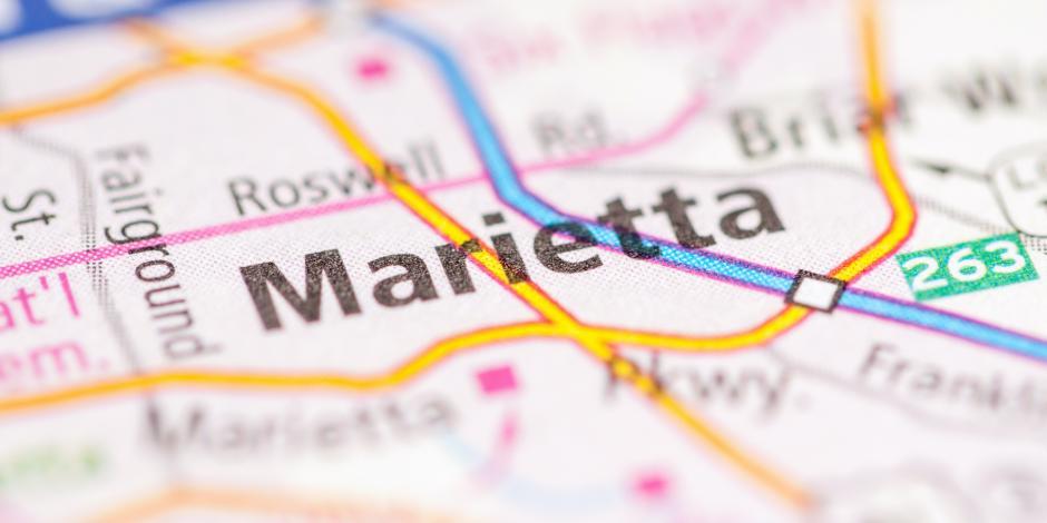 marietta georgia on a map