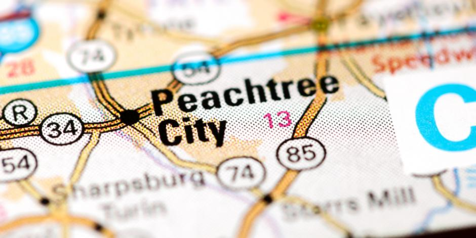 peachtree city map