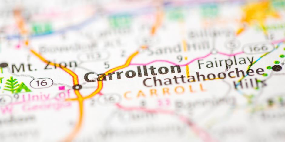 Carrollton, GA map